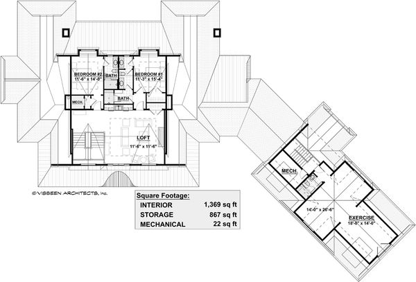Country Floor Plan - Upper Floor Plan Plan #928-320