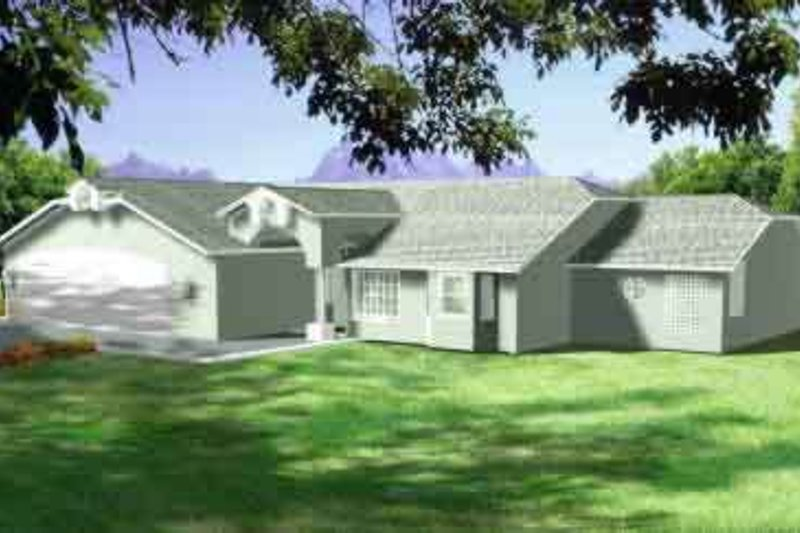 Modern Style House Plan - 3 Beds 2 Baths 2079 Sq/Ft Plan #1-1418 Exterior - Front Elevation