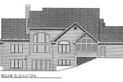 Traditional Style House Plan - 3 Beds 2.5 Baths 2677 Sq/Ft Plan #70-429 Exterior - Rear Elevation