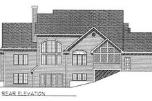 Dream House Plan - Traditional Exterior - Rear Elevation Plan #70-429