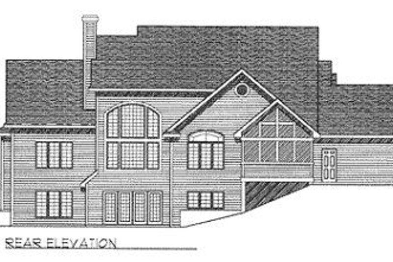 Traditional Exterior - Rear Elevation Plan #70-429 - Houseplans.com