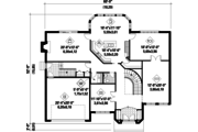 European Style House Plan - 5 Beds 2 Baths 4551 Sq/Ft Plan #25-4699 Floor Plan - Main Floor Plan