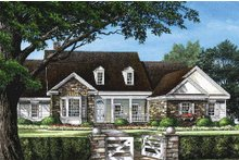 Southern Exterior - Front Elevation Plan #137-205