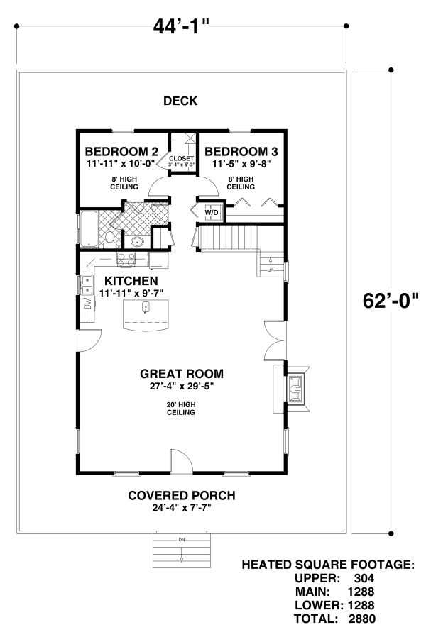 Home Plan - Craftsman Floor Plan - Main Floor Plan #56-724