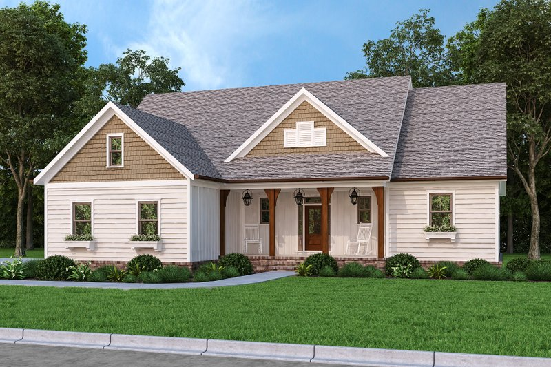Architectural House Design - Ranch Exterior - Front Elevation Plan #927-1017