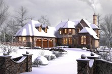 Dream House Plan - European Exterior - Front Elevation Plan #48-625