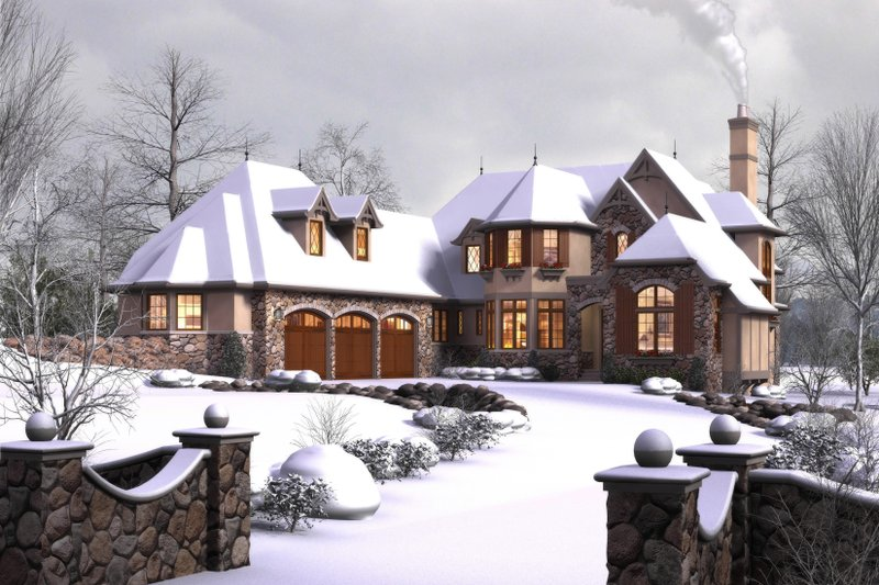 European Exterior - Front Elevation Plan #48-625 - Houseplans.com