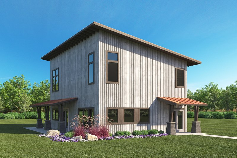 Dream House Plan - Modern Exterior - Front Elevation Plan #1068-5