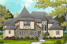 European Exterior - Front Elevation Plan #413-835