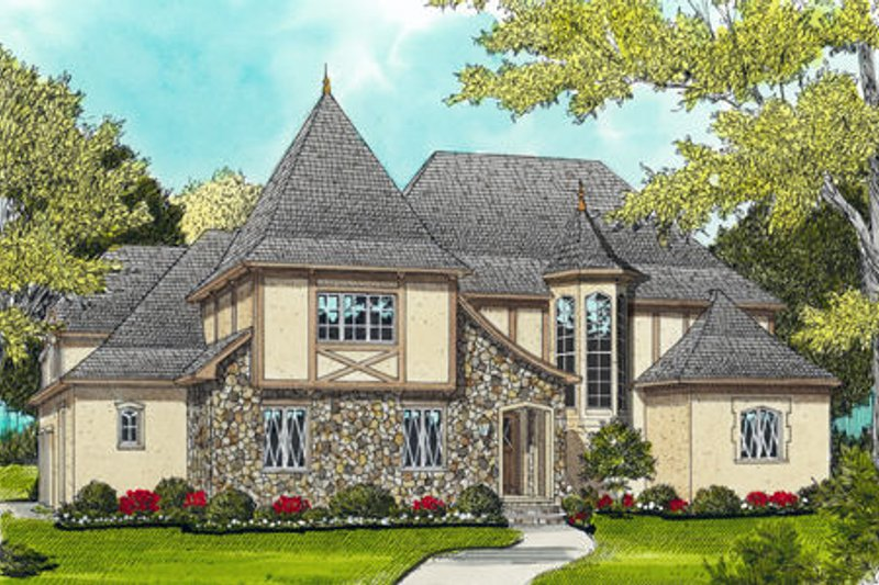 Dream House Plan - European Exterior - Front Elevation Plan #413-835
