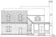 Colonial Style House Plan - 3 Beds 2 Baths 2485 Sq/Ft Plan #137-178 Exterior - Rear Elevation