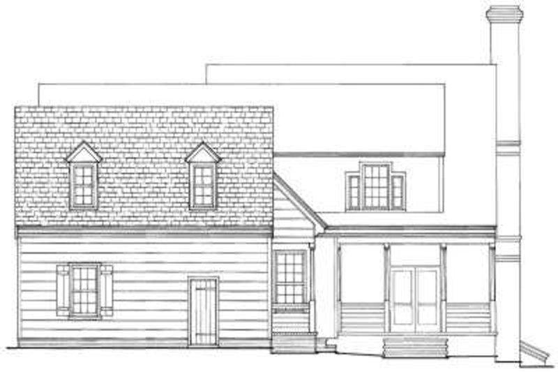 Colonial Exterior - Rear Elevation Plan #137-178 - Houseplans.com