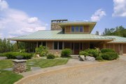 Prairie Style House Plan - 3 Beds 2.5 Baths 2979 Sq/Ft Plan #454-7 Exterior - Rear Elevation