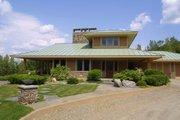 Prairie Style House Plan - 3 Beds 2.5 Baths 2979 Sq/Ft Plan #454-7 Exterior - Rear Elevation