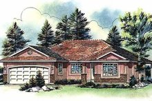 House Blueprint - Ranch Exterior - Front Elevation Plan #18-191