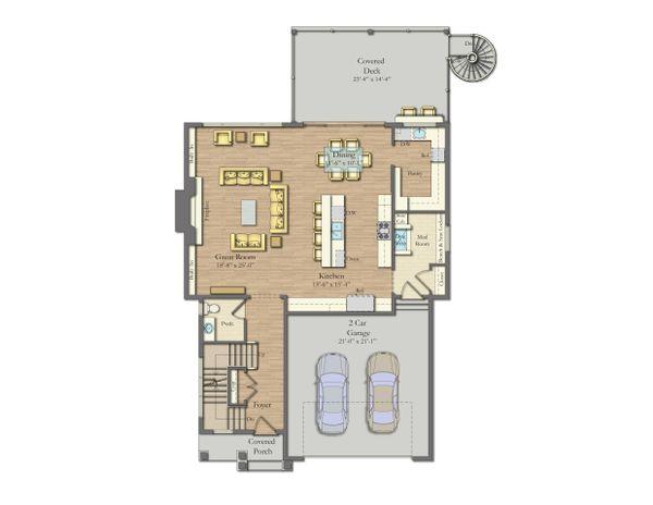 House Plan Design - Craftsman Floor Plan - Main Floor Plan #1057-19