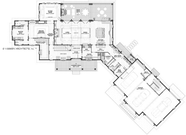 Farmhouse Floor Plan - Main Floor Plan Plan #928-341