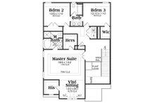 Traditional Floor Plan - Upper Floor Plan Plan #419-255