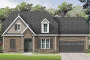 European Style House Plan - 3 Beds 2.5 Baths 2686 Sq/Ft Plan #424-399 Exterior - Front Elevation