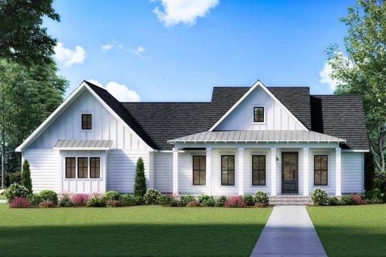Farmhouse Exterior - Front Elevation Plan #1074-25