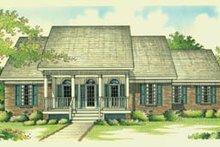 Home Plan Design - Southern Exterior - Front Elevation Plan #45-131