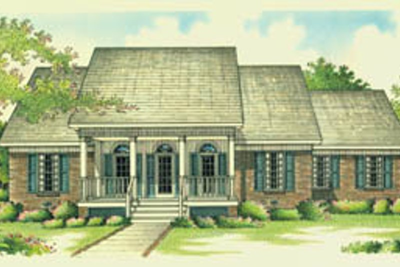 Southern Exterior - Front Elevation Plan #45-131
