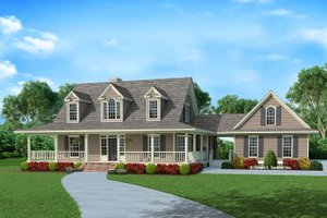 House Design - Country Exterior - Front Elevation Plan #929-1062