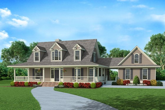 Country Exterior - Front Elevation Plan #929-1062
