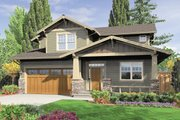 Craftsman Style House Plan - 3 Beds 2.5 Baths 2002 Sq/Ft Plan #48-523 Exterior - Front Elevation