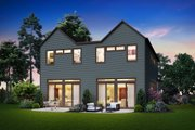 Contemporary Style House Plan - 3 Beds 3 Baths 3834 Sq/Ft Plan #48-1021 Exterior - Rear Elevation