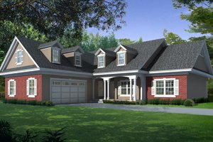 House Plan Design - Country Exterior - Front Elevation Plan #112-163