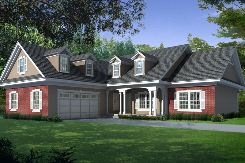 Home Plan - Country Exterior - Front Elevation Plan #112-163