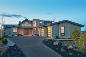 Dream House Plan - Contemporary Exterior - Front Elevation Plan #892-15