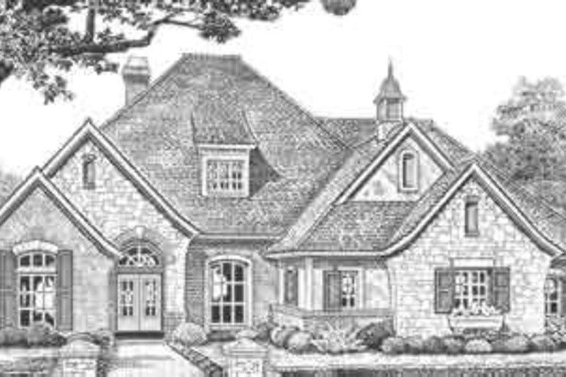 Dream House Plan - European Exterior - Front Elevation Plan #310-322