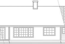 Ranch Exterior - Rear Elevation Plan #124-102
