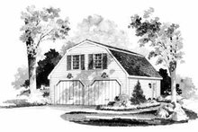 Country Exterior - Front Elevation Plan #72-235