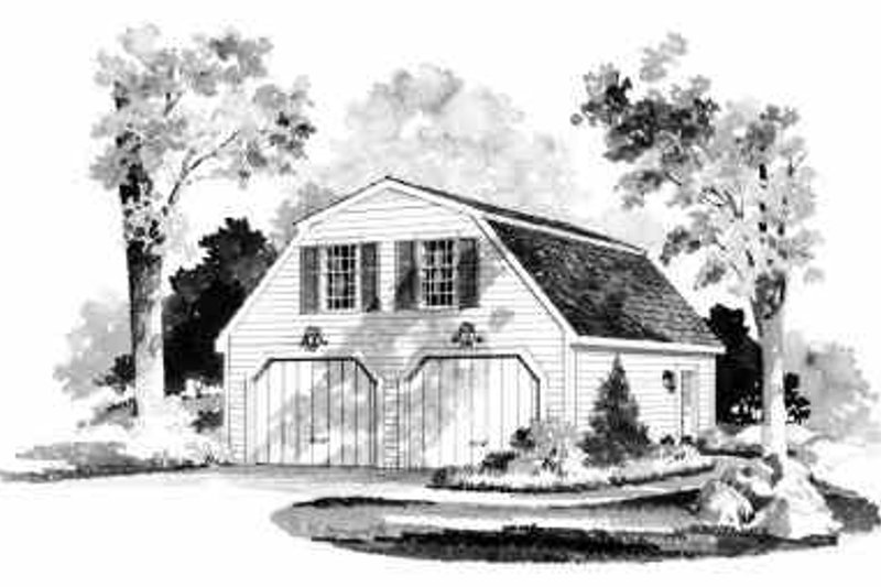 Country Style House Plan - 1 Beds 1 Baths 431 Sq/Ft Plan #72-235 Exterior - Front Elevation