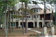 European Style House Plan - 4 Beds 5.5 Baths 5831 Sq/Ft Plan #453-51 Exterior - Rear Elevation