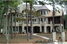 Dream House Plan - European Exterior - Rear Elevation Plan #453-51