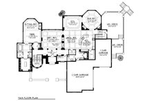 Main Level floor plan  - 6400 square foot European style home