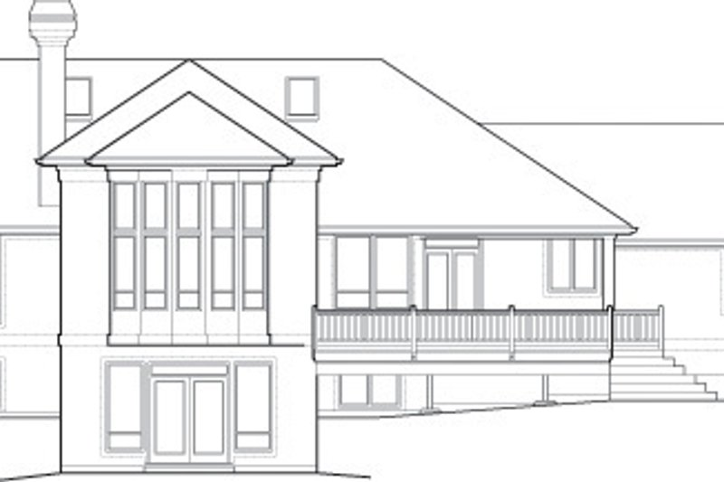 Exterior - Rear Elevation Plan #48-604 - Houseplans.com