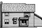 Traditional Style House Plan - 4 Beds 2.5 Baths 2099 Sq/Ft Plan #20-713 Exterior - Rear Elevation