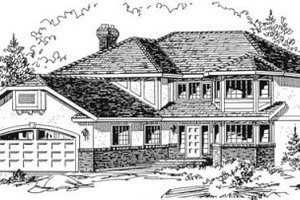 Traditional Exterior - Front Elevation Plan #18-8956