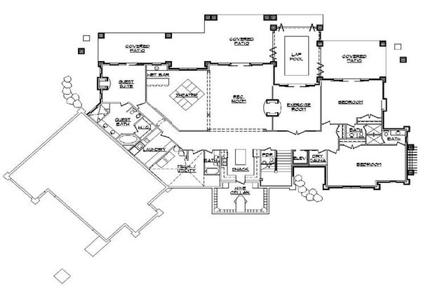 Traditional Floor Plan - Lower Floor Plan #5-349