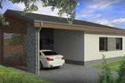 Modern Style House Plan - 2 Beds 1 Baths 838 Sq/Ft Plan #906-14