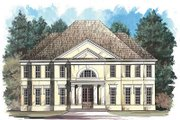 European Style House Plan - 4 Beds 3.5 Baths 2942 Sq/Ft Plan #119-292 Exterior - Front Elevation