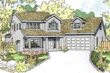 Dream House Plan - Country Exterior - Front Elevation Plan #124-1208
