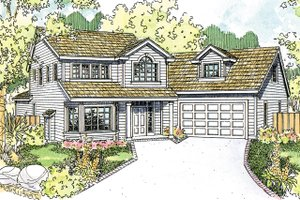 Country Exterior - Front Elevation Plan #124-1208