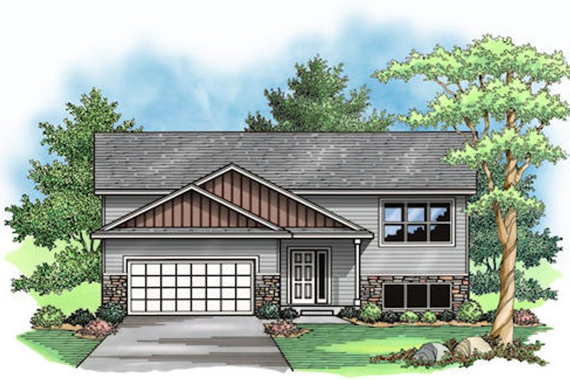 Traditional Exterior - Front Elevation Plan #51-379 - Houseplans.com