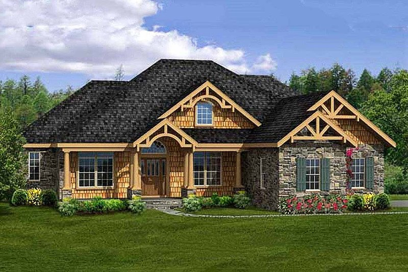 Craftsman Style House Plan - 4 Beds 3.5 Baths 3248 Sq/Ft Plan #456-29